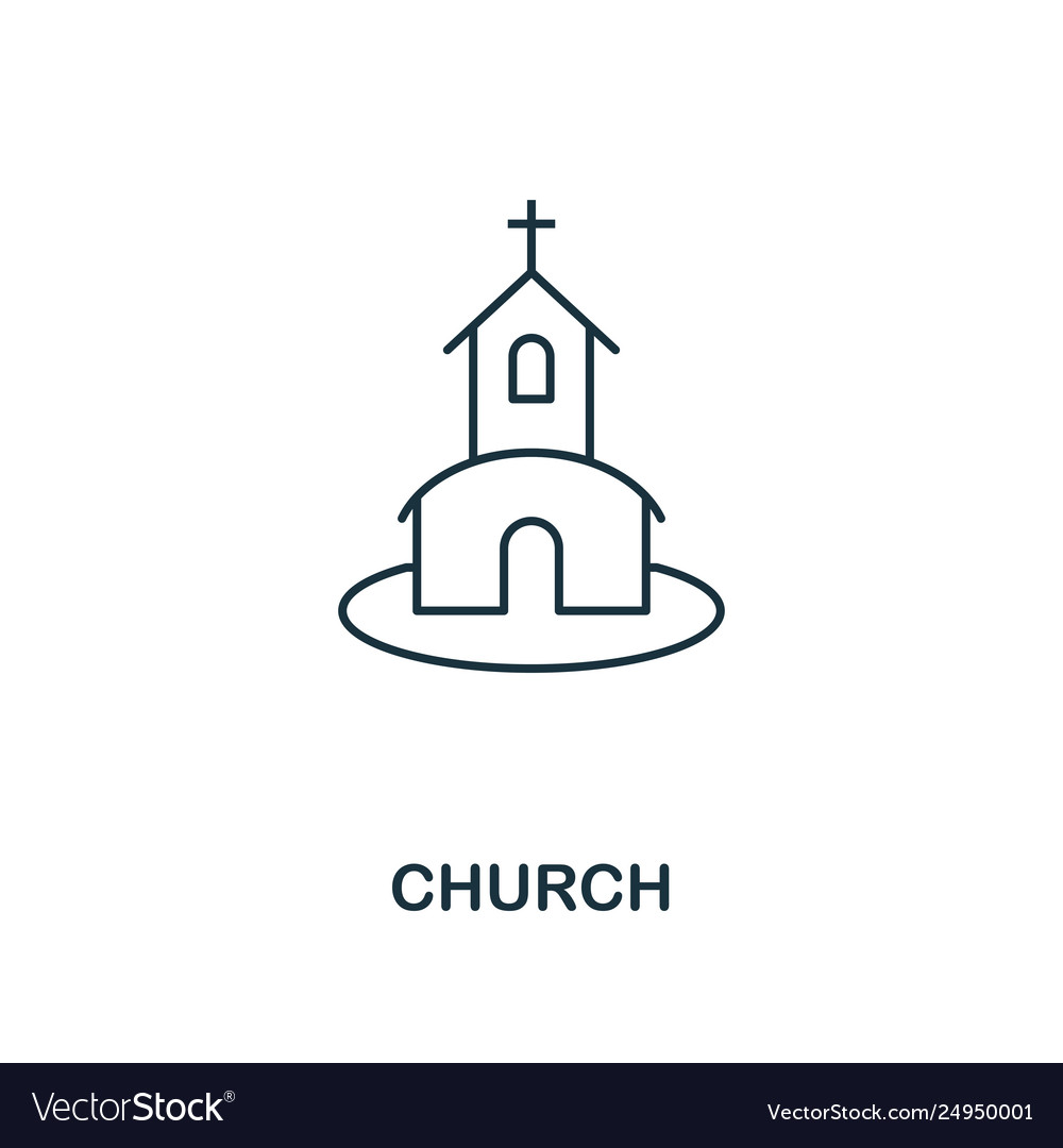 Church outline icon premium style design from