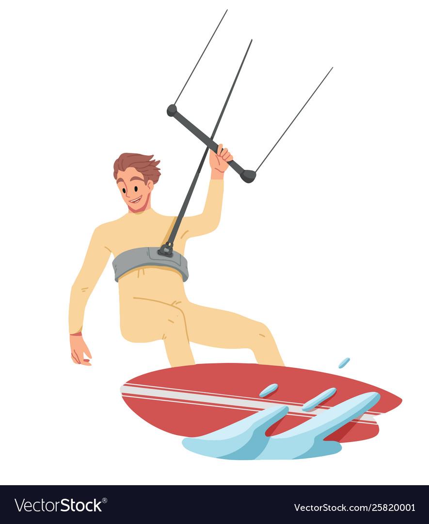 Man surfing riding on water summer leisure