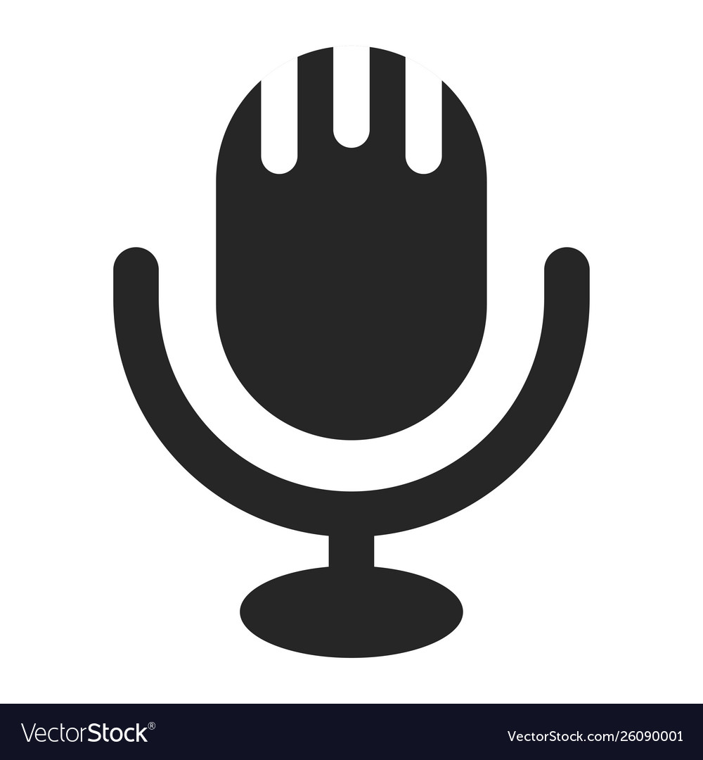 Microphone icon piece musical or media