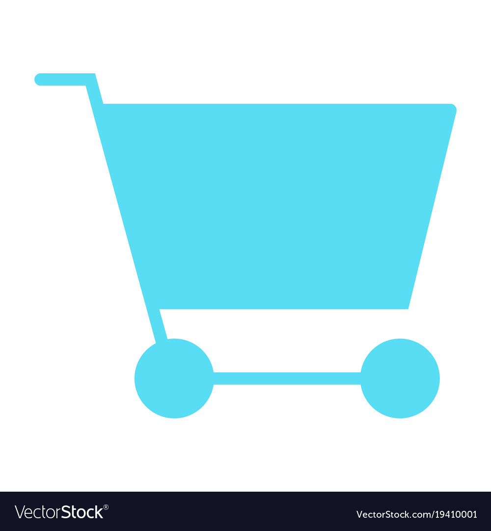 Shopping cart silhouette icon minimal pictogram