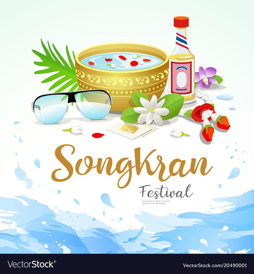 Songkran festival thailand water splash