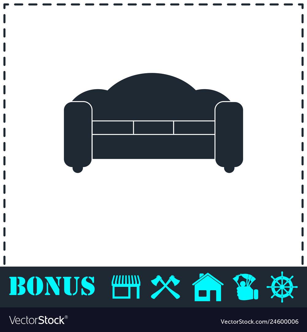 Armchair icon flat