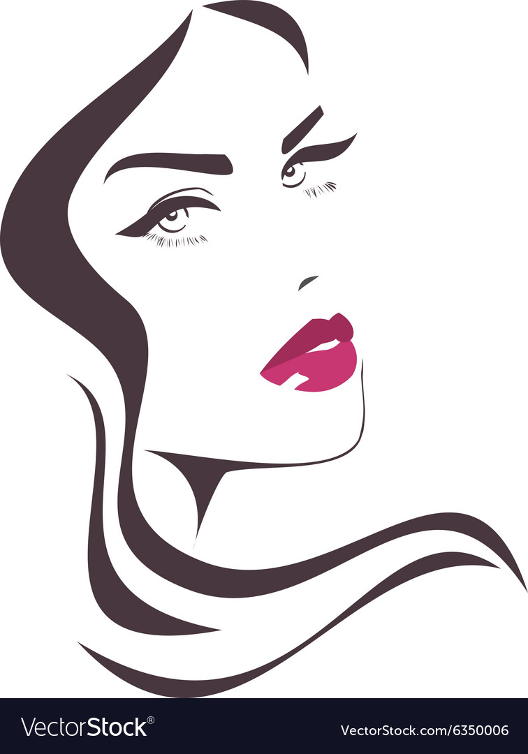 beautiful girl face royalty free vector image vectorstock rh vectorstock com face vector online face vector free download