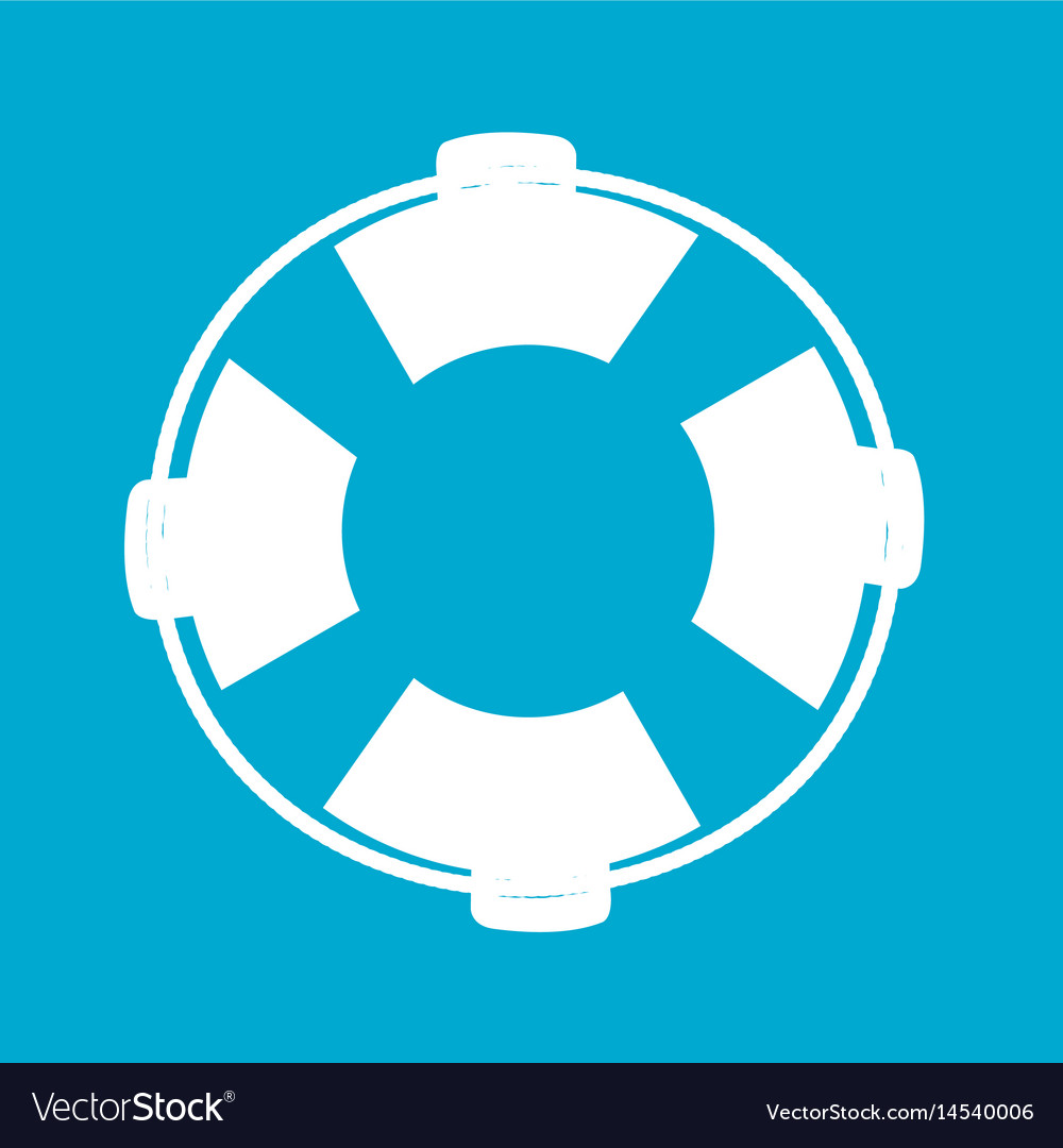 Blue square frame with flotation hoop vector image