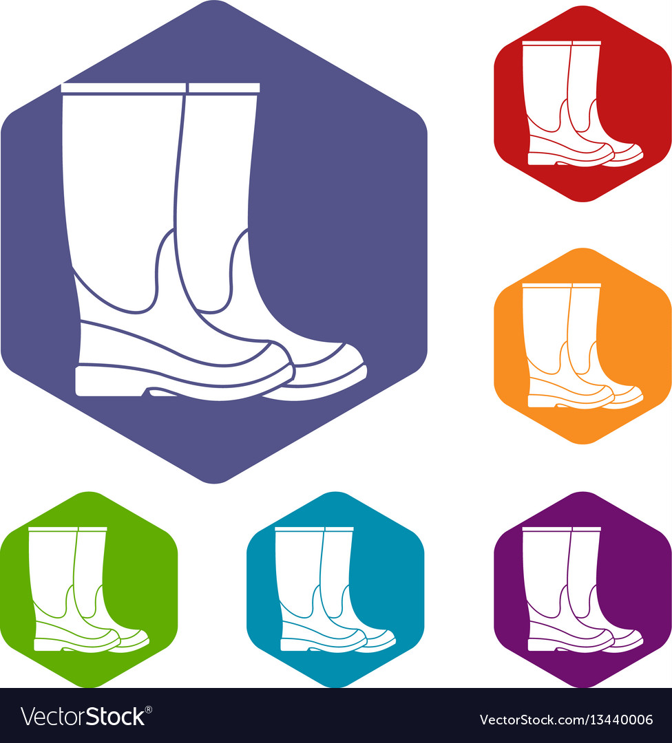 Boots icons set