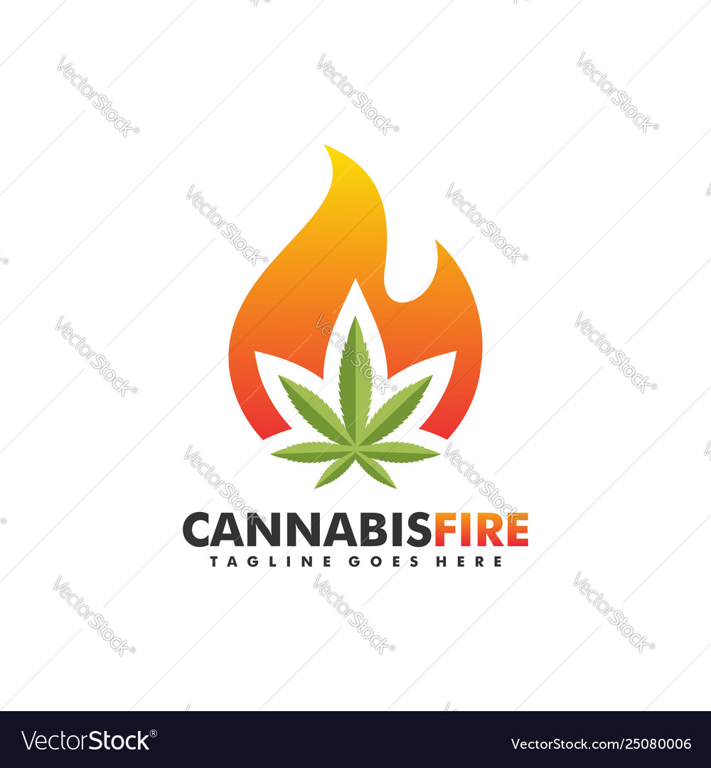 Cannabis fire 2 concept design template