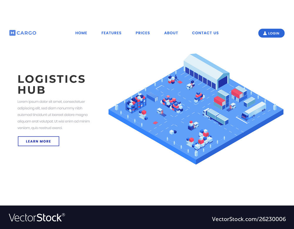 Container yard landing page template