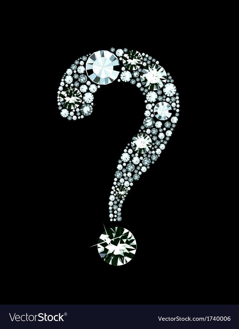Diamond Question Mark vector image