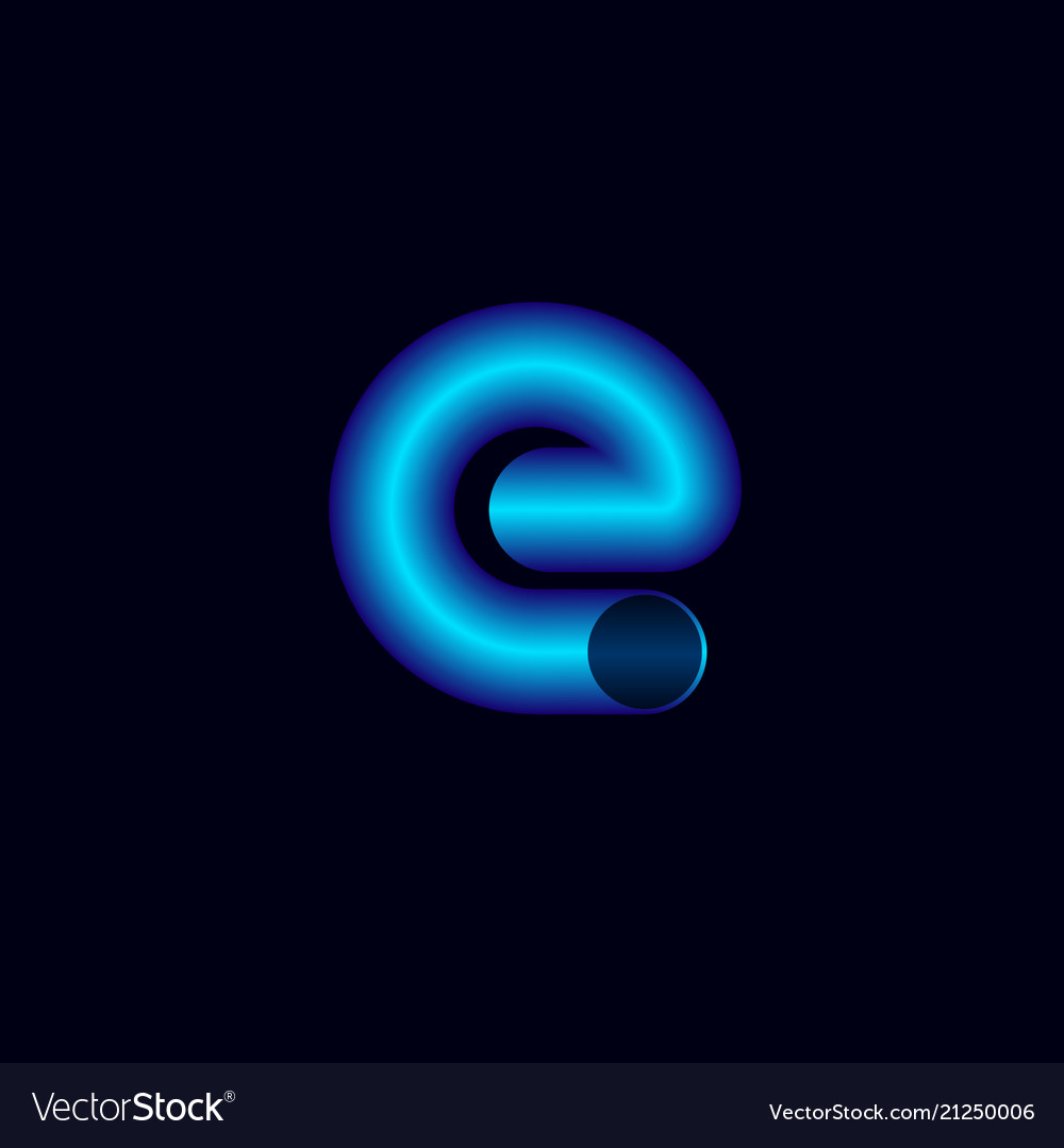 E letter like pipeline pipe logo