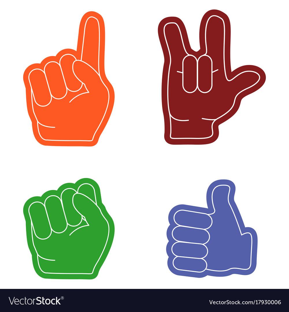 Hand gestures flat