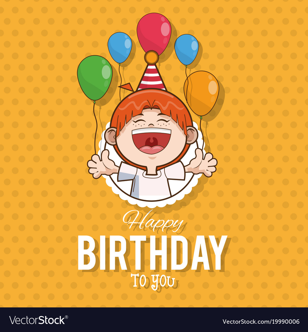Remarkable Kid Happy Birthday Card Cartoon Royalty Free Vector Image Funny Birthday Cards Online Eattedamsfinfo