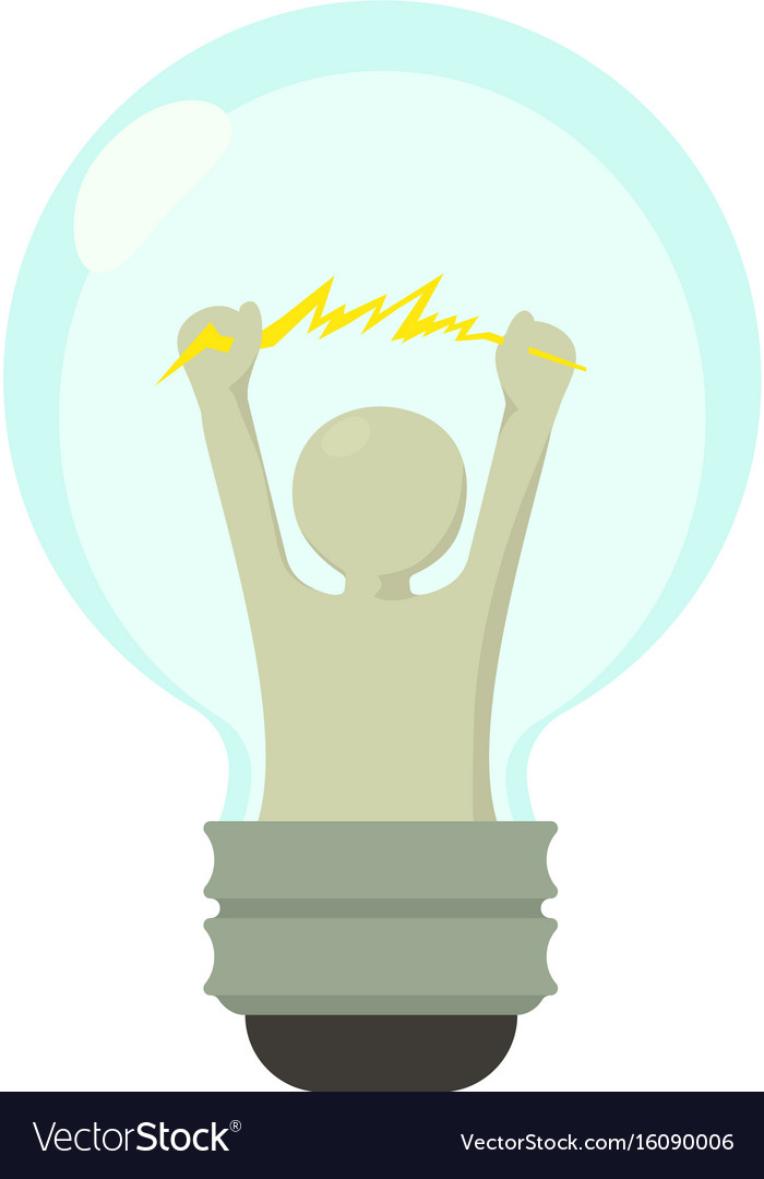 Smart light bulb icon cartoon style vector image