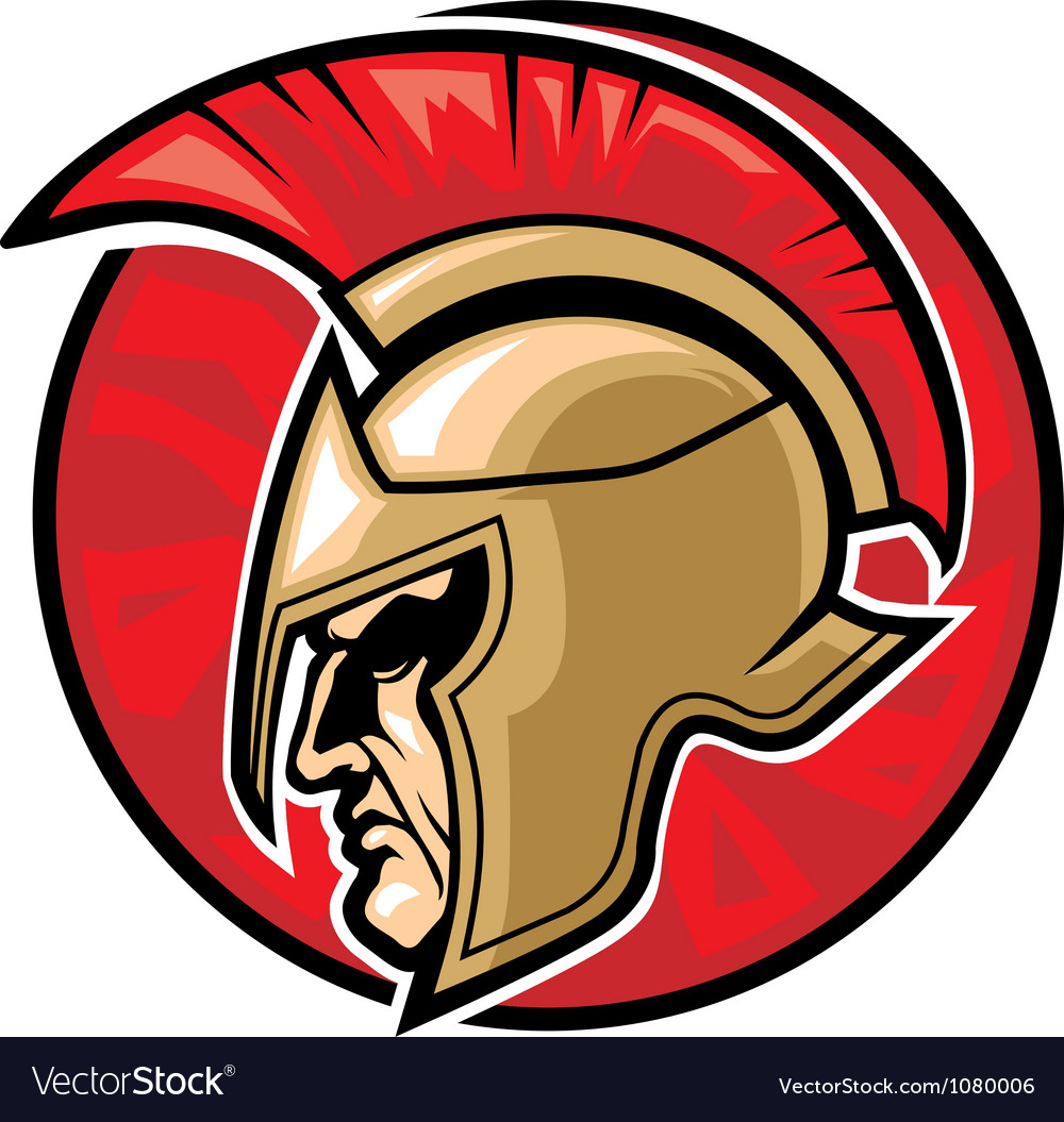 Spartan warrior head