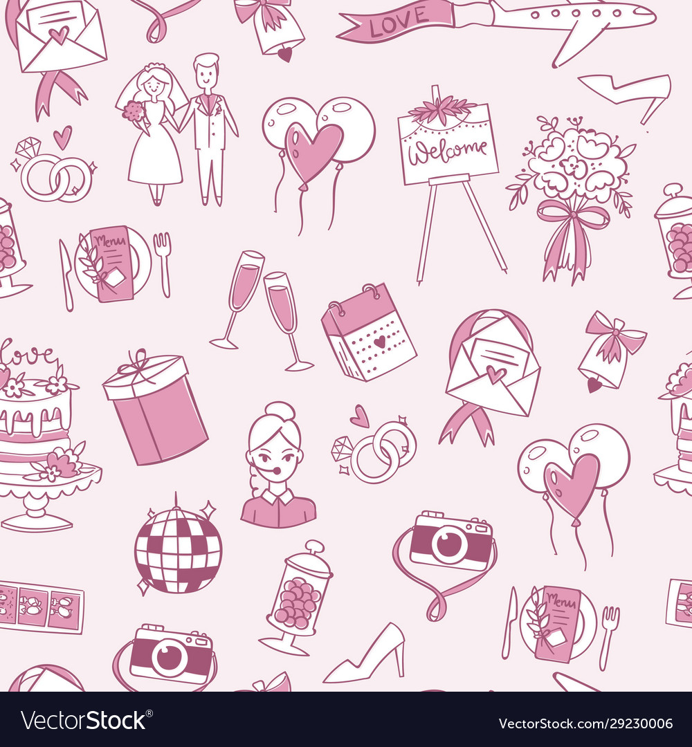 Wedding or valentine s day seamless pattern