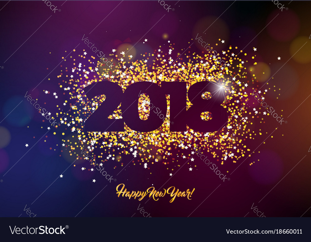 2018 happy new year background with