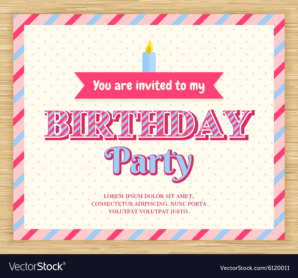 Birthday Party Invitation Card Royalty