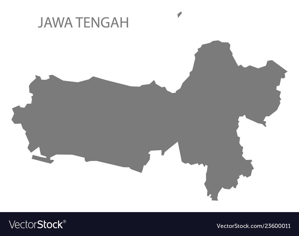 Jawa tengah indonesia map grey