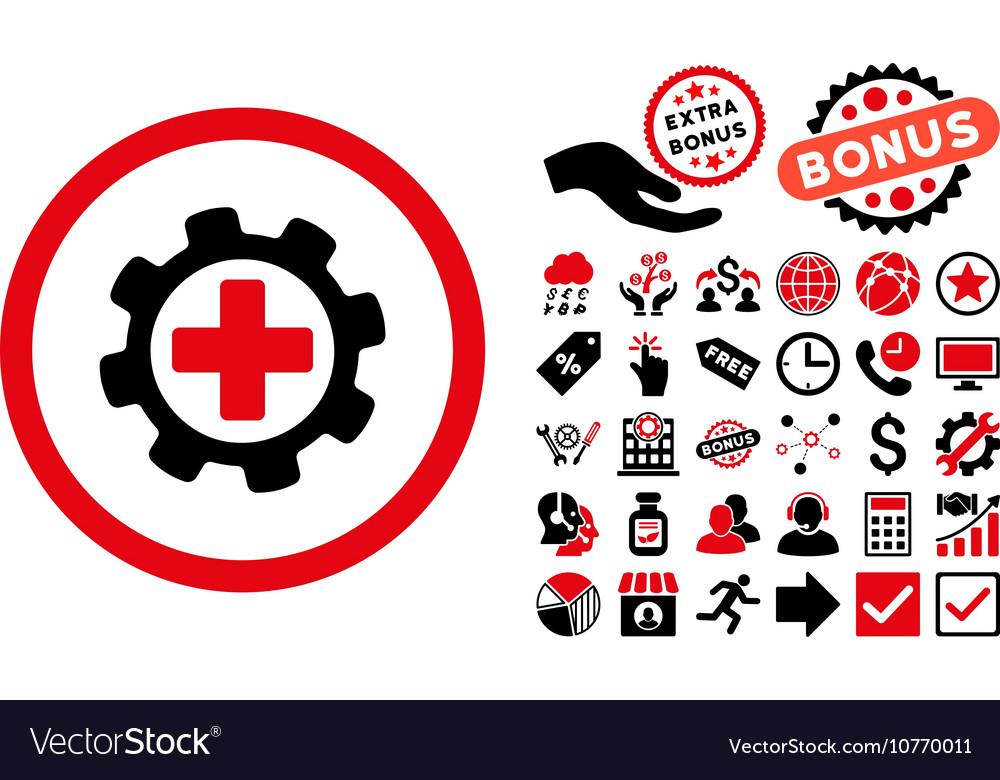 Medical Settings Flat Icon With Bonus Royalty Free Vector