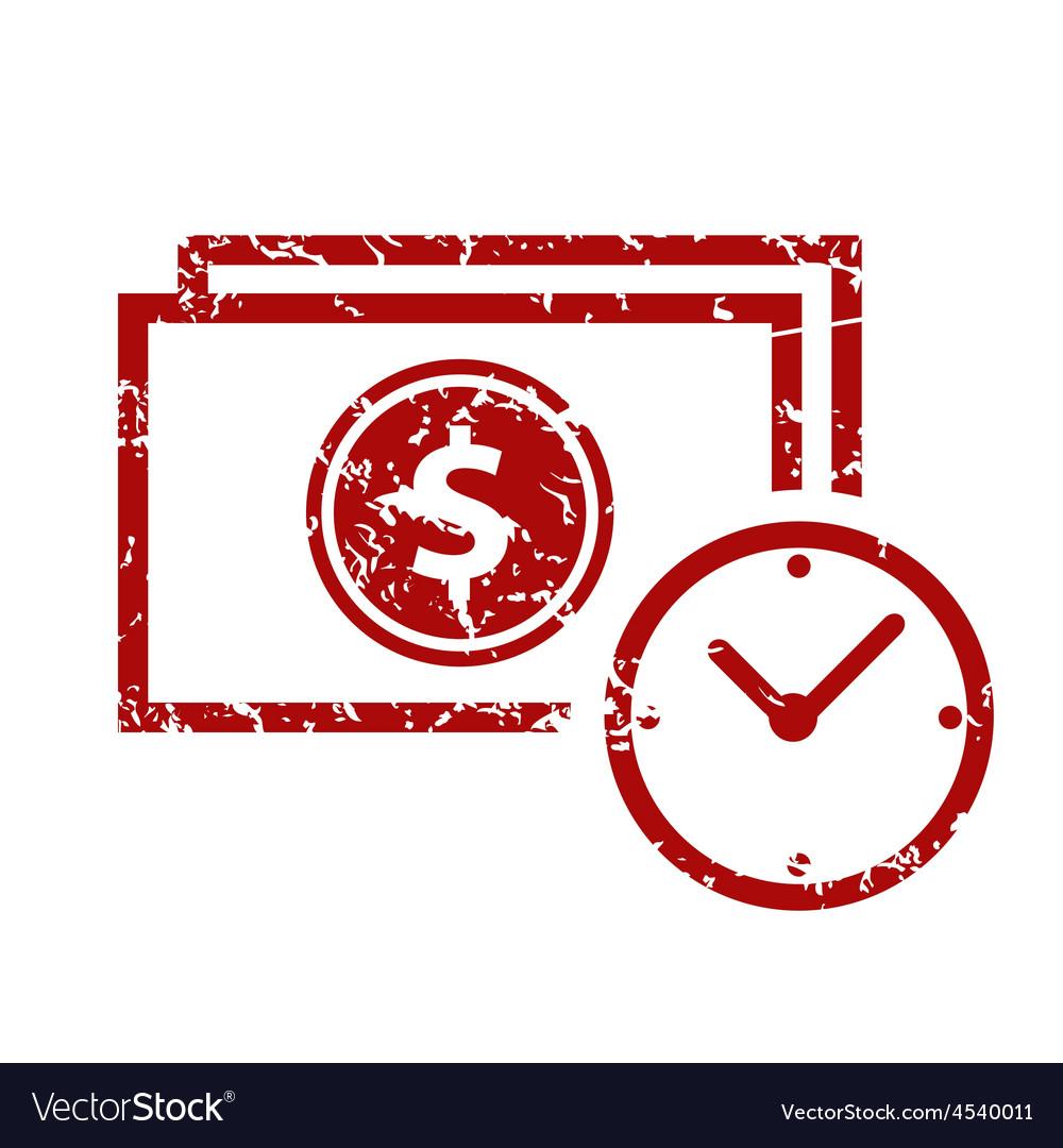 Red grunge buck time logo