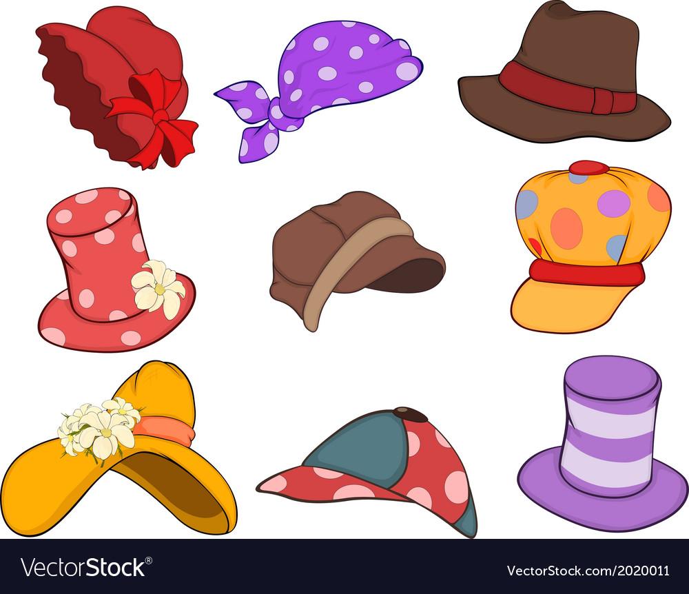 Set of Hats Cartoons