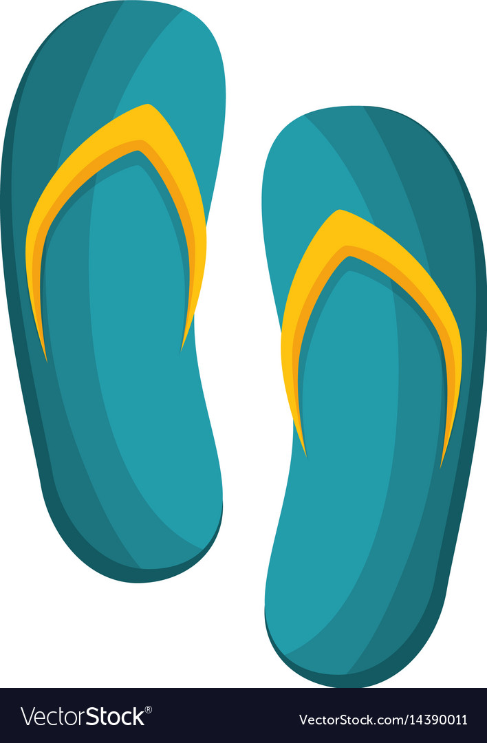 Spa flip flops icon vector image