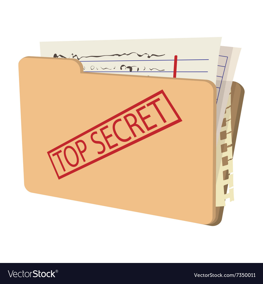 Top secret package cartoon icon