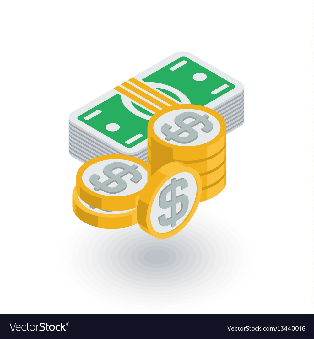 Banking money dollar banknotes and coins