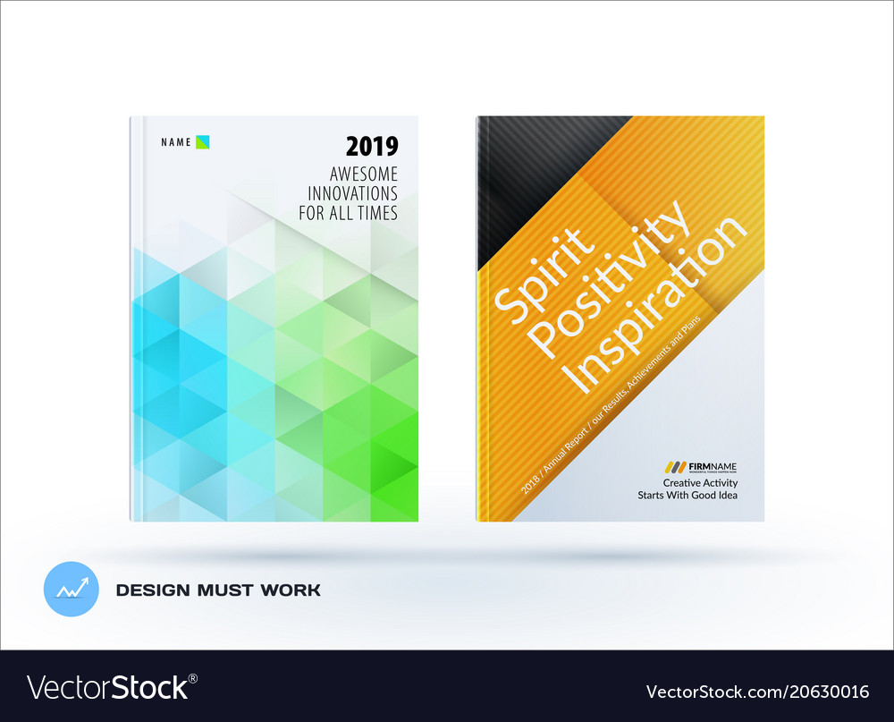 Business polygonal set of design brochure