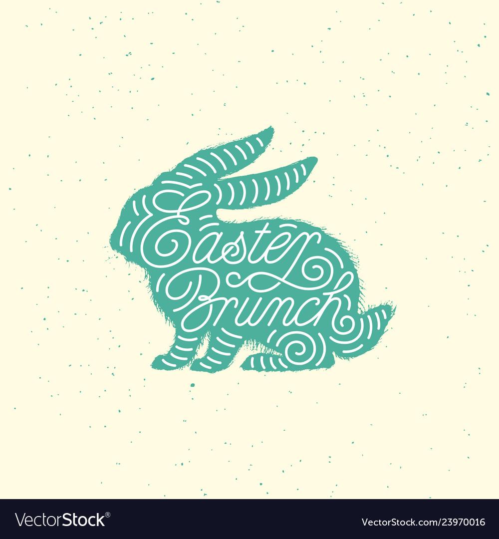 Easter brunch lettering