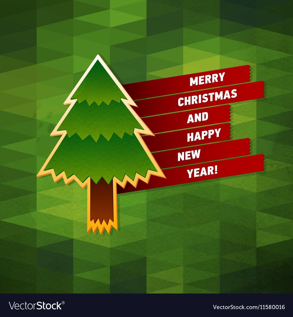 Merry Christmas Greeting Card Creative Holiday