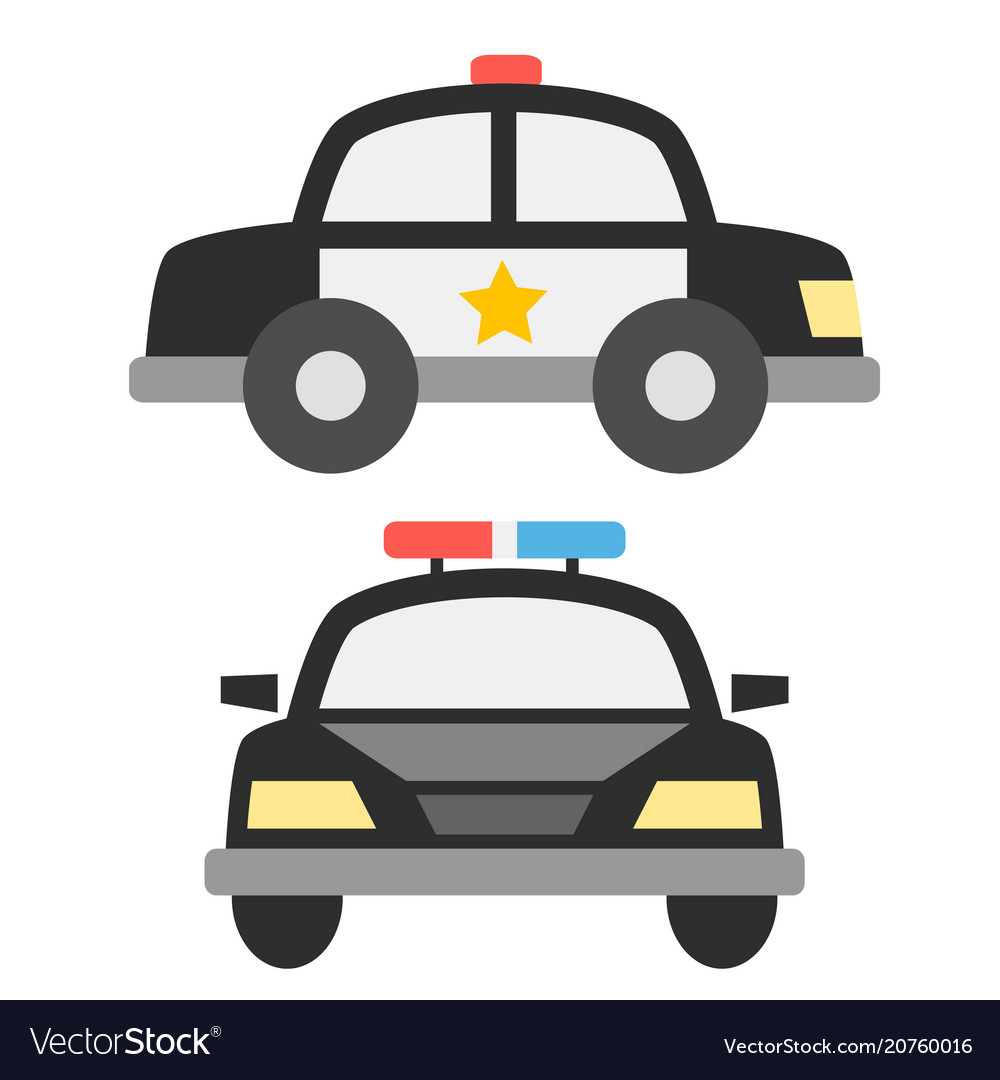 Police car icons