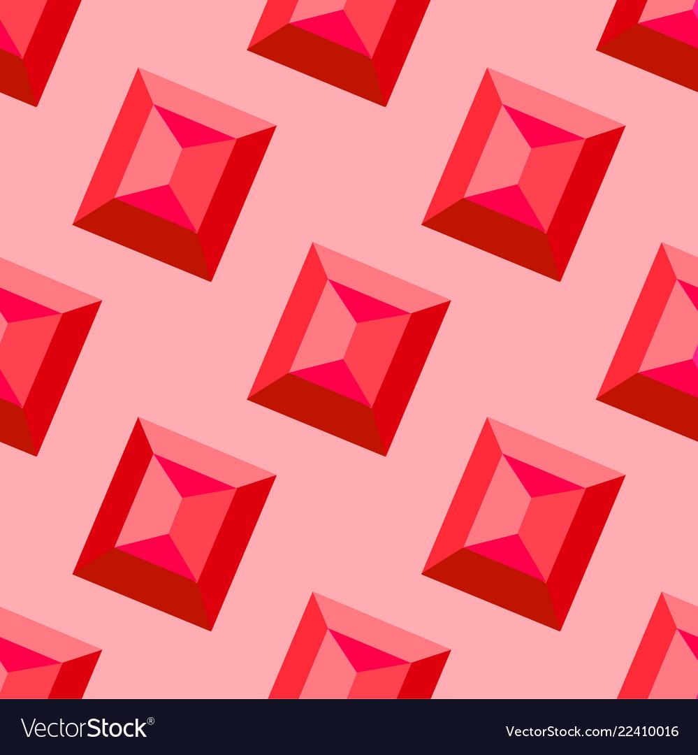 Ruby seamless pattern decorative