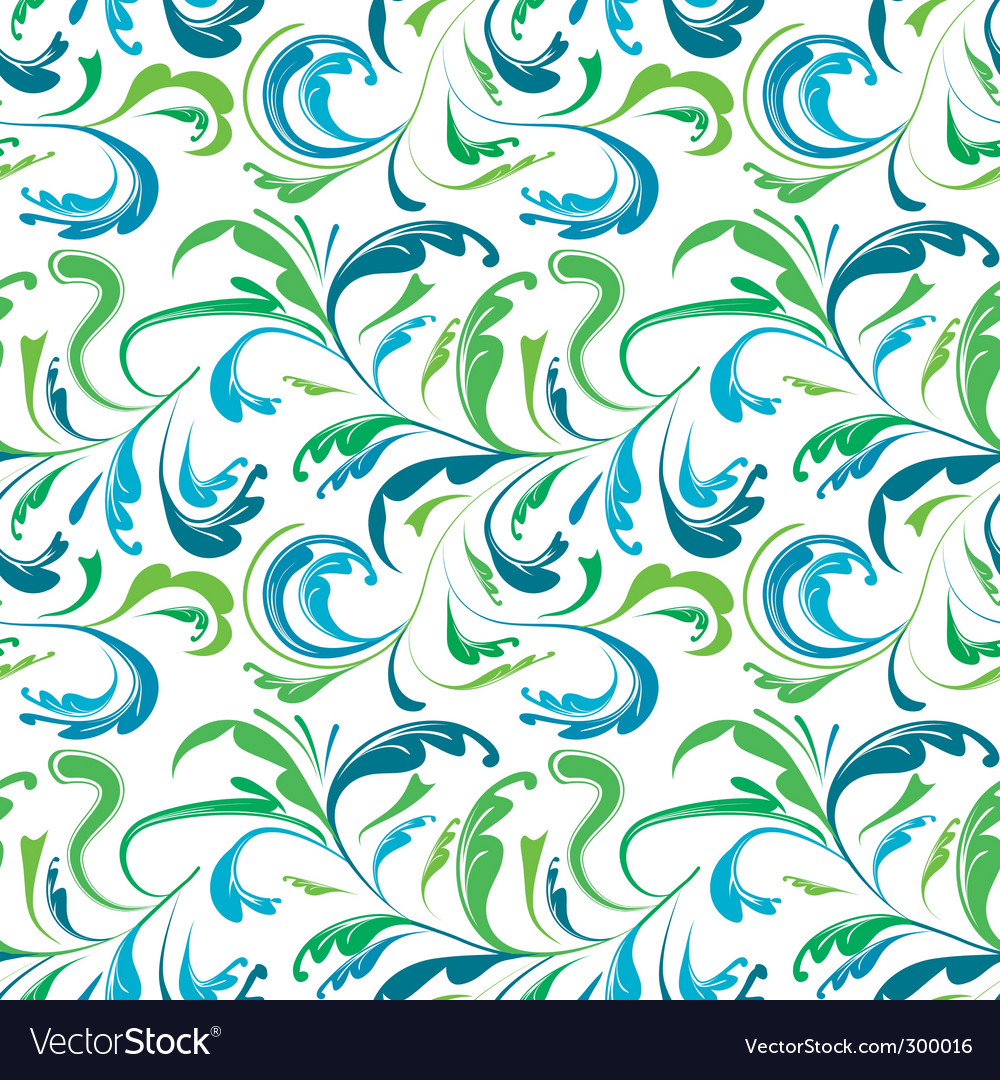 Seamless background with colorful plants vector image