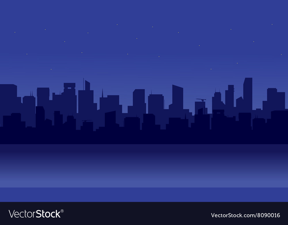 Silhouette of skyscrapers