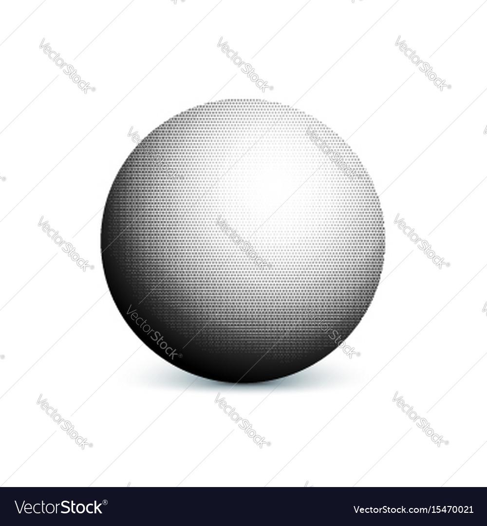 Abstract halftone minimalist ball circle with