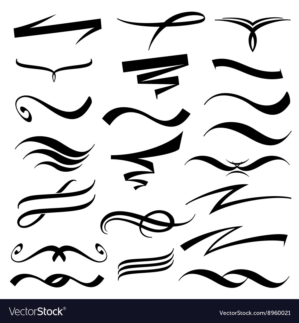 Lettering underlines collection