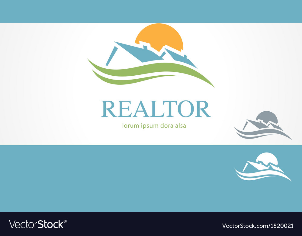Real Estate Housing Valley Logo Concept Template