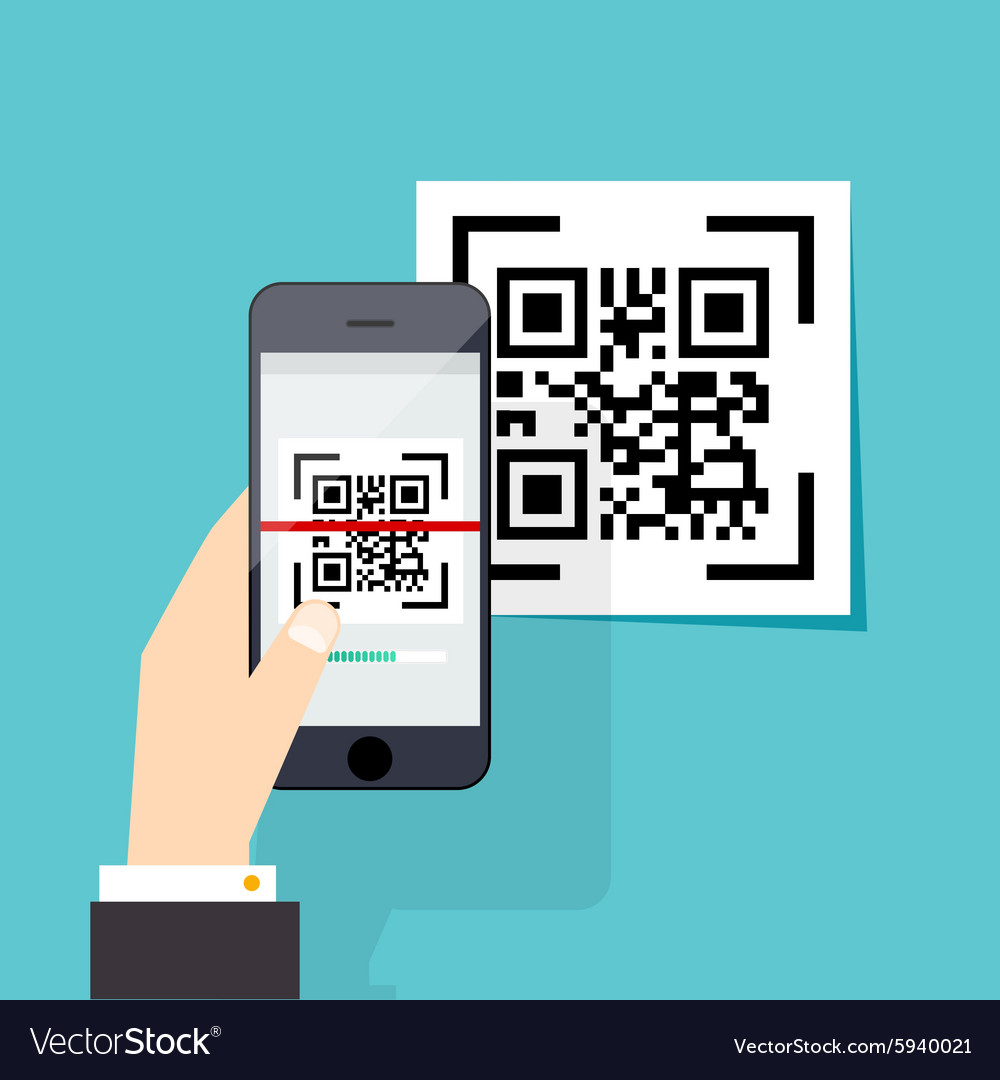 Scan QR code to Mobile Phone Electronic scan