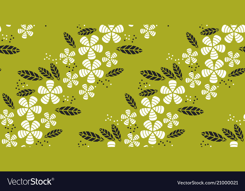 Simple flat tropical flower pattern