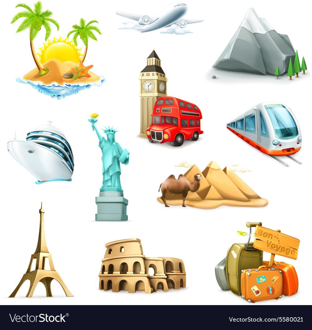 Travel set of icons