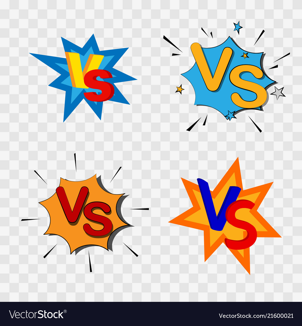 Versus or vs confrontation