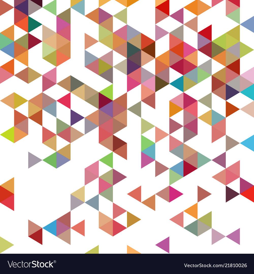 Retro pattern of geometric shapes colorful-mosaic
