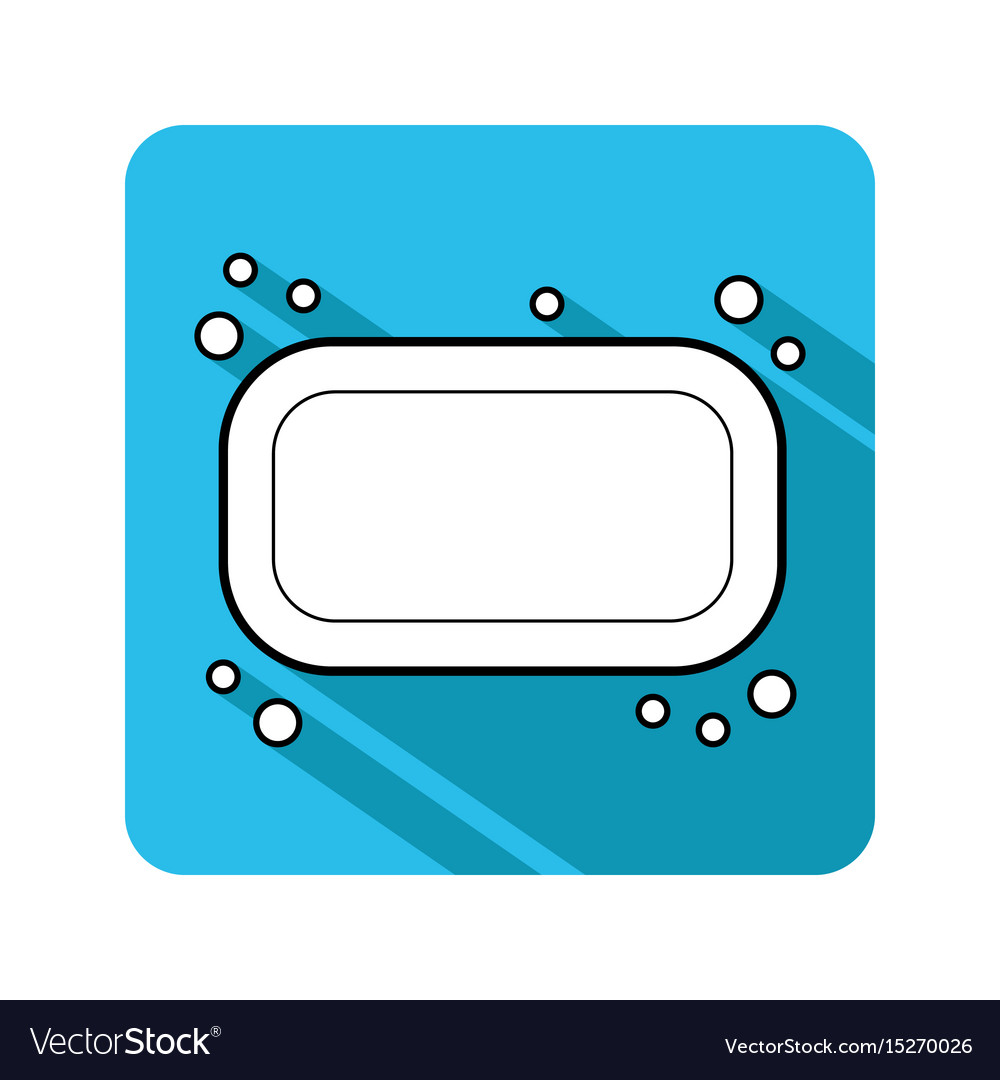 Soap flat icon of hygiene and beauty products