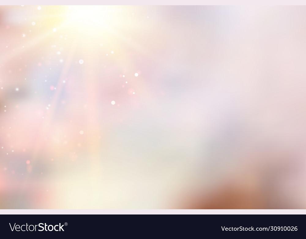 Sun flash over pink bokeh background