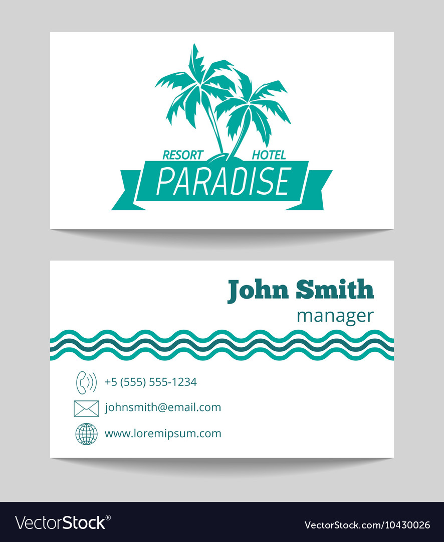 Tropical hotel business card template royalty free vector tropical hotel business card template vector image colourmoves