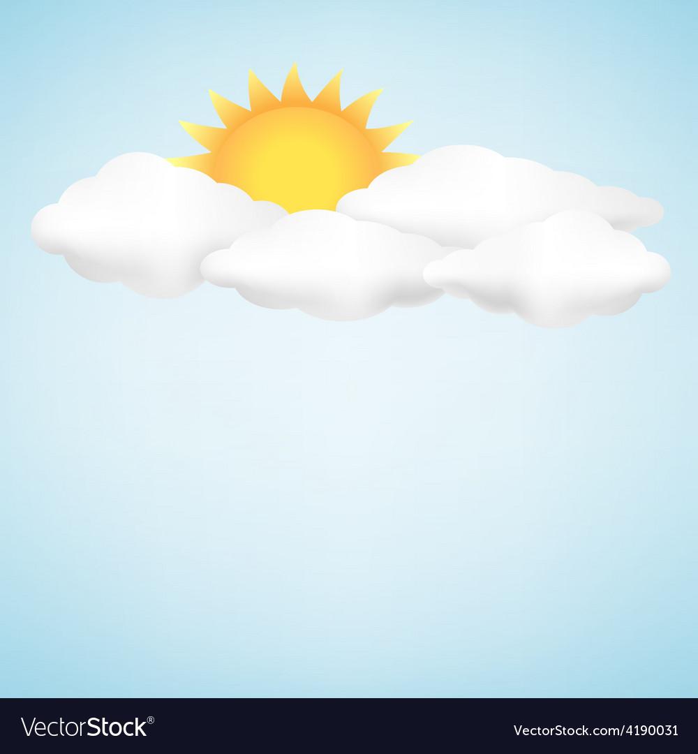рисунок небо с облаками и солнцем материал довольно хрупкий