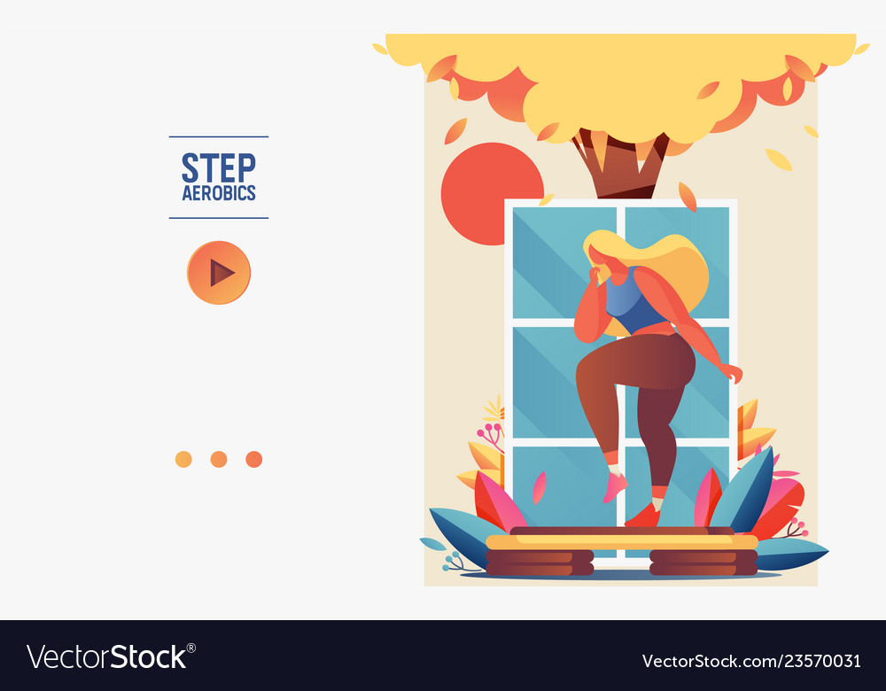 Concept banner or booklet template with young