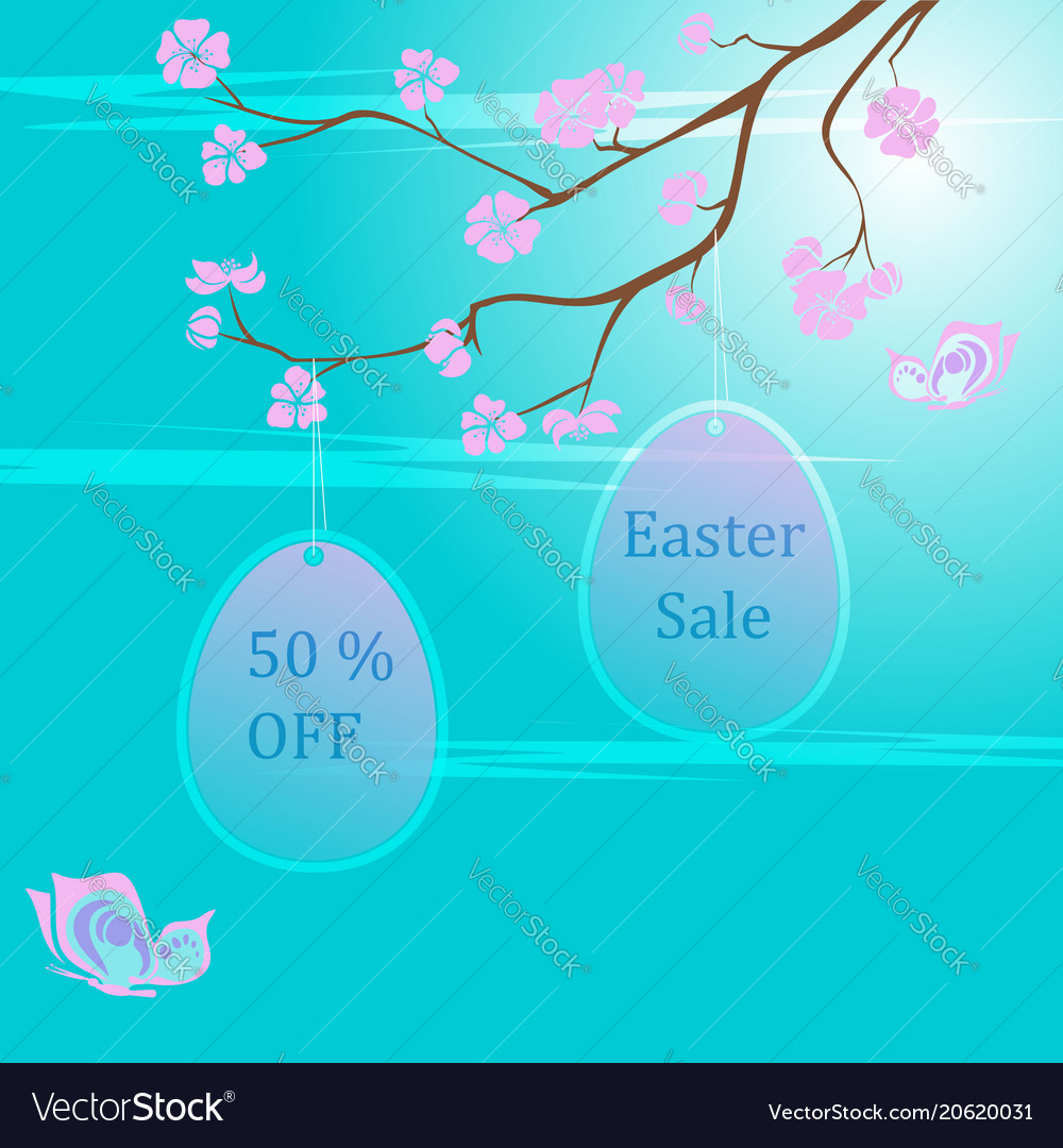 Easter sale background template