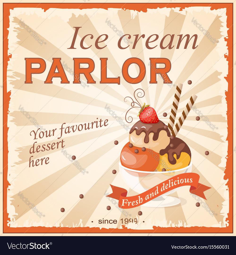 Ice cream parlor vector image