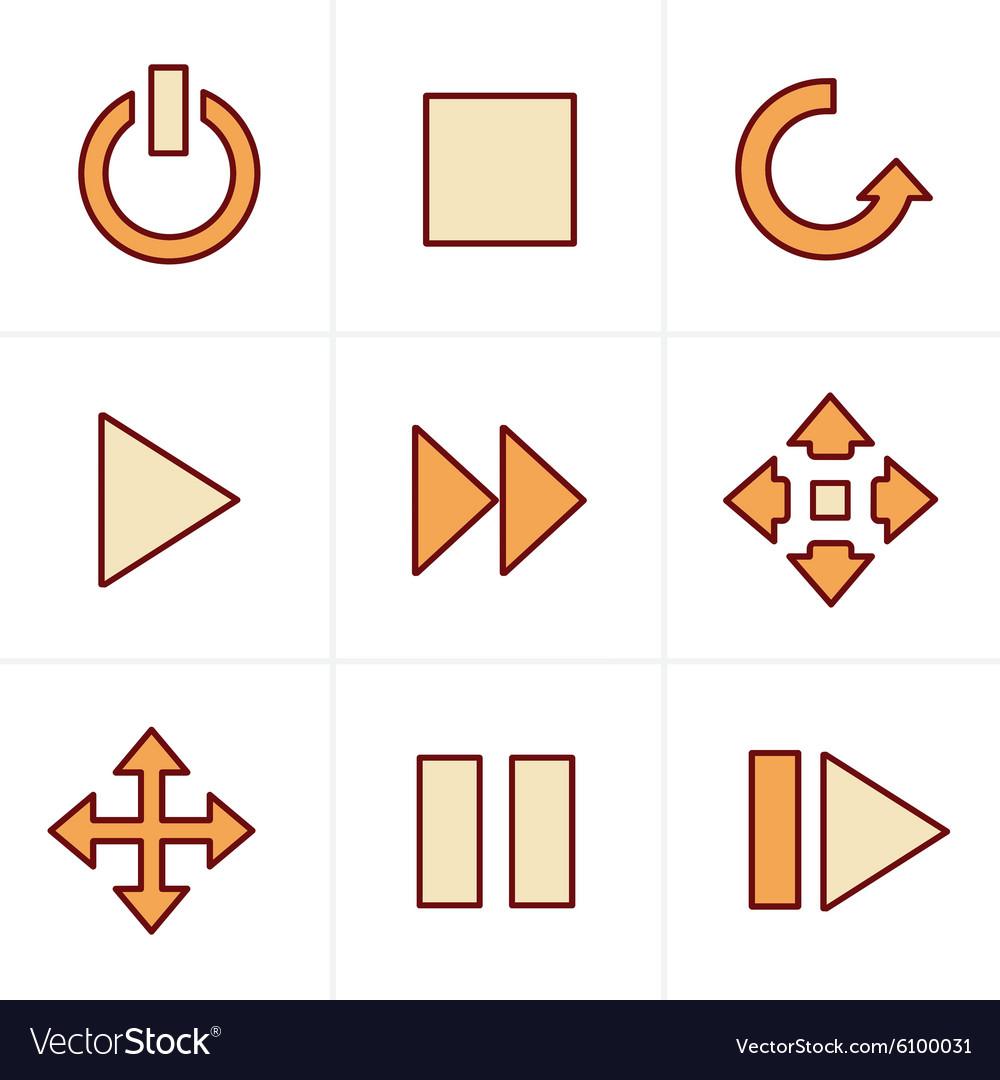 Icons Style media Icons Set Design